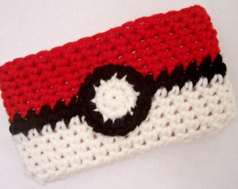 Crochet 3DS Cozy - Pokemon Pokeball Cover