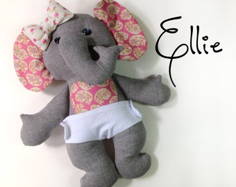 Ellie Baby Elephant PDF Doll Pattern