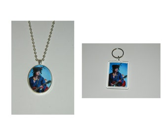 Adam Ant Glass Pendant Necklace and/ or Keychain