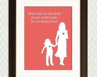 PERSONALIZED GIFT - Gift for Mom with hearts