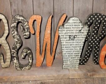 Halloween Beware Letters..Halloween Decorations... Halloween decor