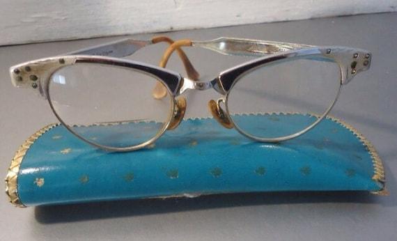 Items similar to vintage art craft aluminum cat eye for Art craft eyeglasses vintage