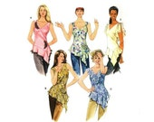 Flounce Tops Lower Asymetrical Shirts McCalls 4659 Paper Sewing Pattern Size 4 6 8 10 Bust 29 1/2 - 30 1/2 - 31 1/2 - 32 1/2 UNCUT