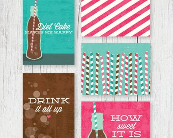 Journaling Cards - Diet Coke