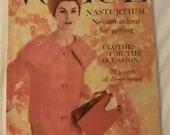 1959 Vintage Vogue magazine - UK Edition Brigitte Bardot, Greta Garbo,Queen Mother