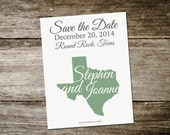 State Save the Date - For Your Location // Destination Wedding - Any Location Save the Date  DEPOSIT -SD02