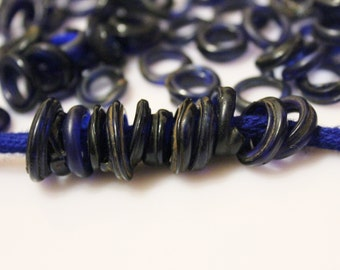 30 Old Cobalt Blue Dutch Dogon Beads, African Trade Beads (C54)