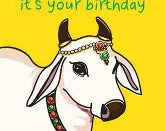 Holy Cow It's Your Birthday - Birthday Greetings Card