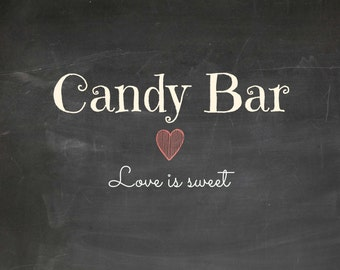 Candy Bar printable sign - instant download