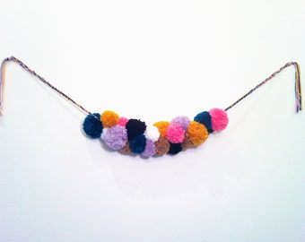 "Yarn Pom Pom Garland- ""The Garvin"""