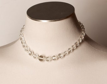Vintage Crystal Faceted Necklace