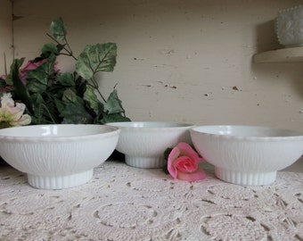 3 White or Milk Glass FTD Planters Scratch and Dent  B835