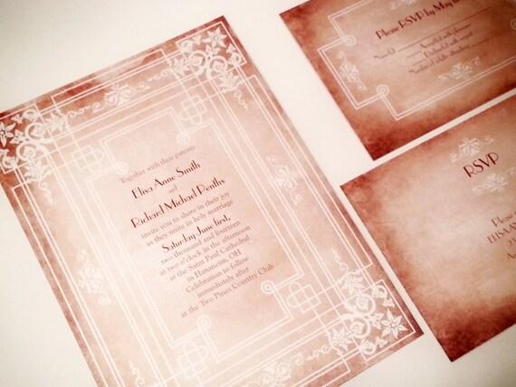 Deco Wedding Invitations: Art Deco Wedding Invitations Fairytale Wedding Invitations