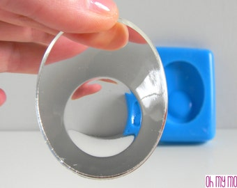 Silicone Mold for Oval earrings with convex lens-mold for earrings-mold for home decorations