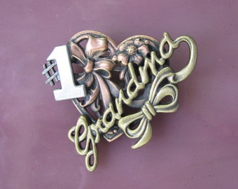 Number One Grandma Brooch- Grandma Gift