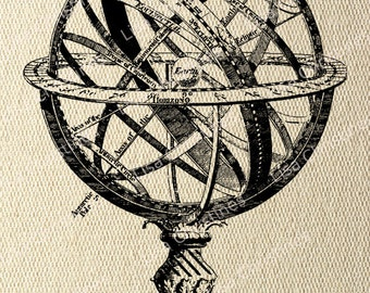 Steampunk Armillary Sphere Instant Download Digital Transfer / 1