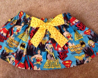 Wonder women Birthday Superhero superman outfit baby girl batgirl supergirl skirt Dress up costume NB 3 6 9 12 18 24 months SALE 2t 3t 4t