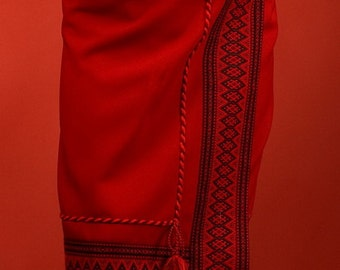 Ukrainian embroidered women's skirt. Size S-XXXL. Red. Skirt is embroidered Ukrainian style. Vyshyvanka. Ukrainian Girls' Clothing