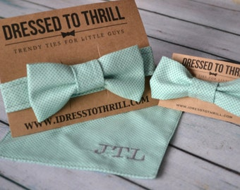 Tie the Knot Set - Coordinating Child Bowtie / Pocket Square / & Hair Bow