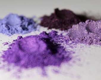 Cosmetic MICA Powder - Purple - Violet - 10-60 Micron - 1/2 OZ Sampler - 8 OZ - Your Choice