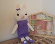 Organic Bamboo Fleece Kitten . Can be personalised
