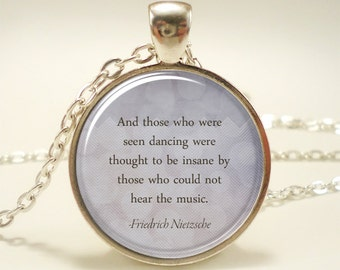 Personalized Jewelry, Custom Quote Necklace, Great Gift Idea (1747S1IN)