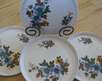 Rare Vintage Barker Bros Royal Tudor Ware Ironstone dinner Plates SET of 4 Good to Fair