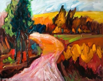 Large Oil Painting On Canvas Modern Original Art Impressionist landscape 23