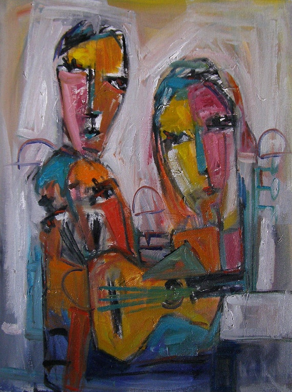 articoli simili a originale pittura moderna di arte