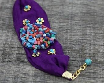Bohemian Jewelry -Tribal jewelry Bracelet, Bohemian Jewelry -Tribal jewelry Ethnic Bracelet