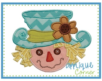 INSTANT DOWNLOAD Scarecrow Girl Fall Halloween applique design in digital format for embroidery machine by Applique Corner