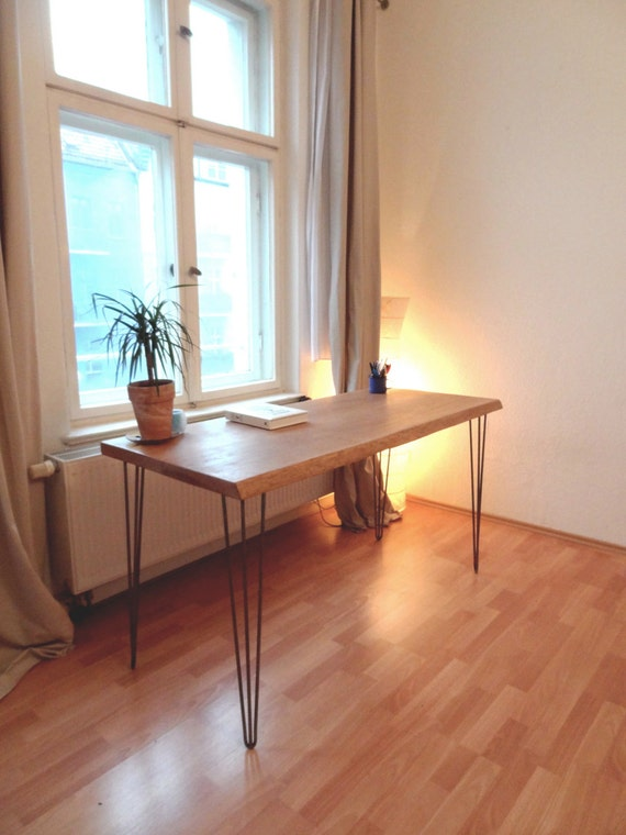 HAIRPIN OAK DESK Old Oak Writing Desk Mid by