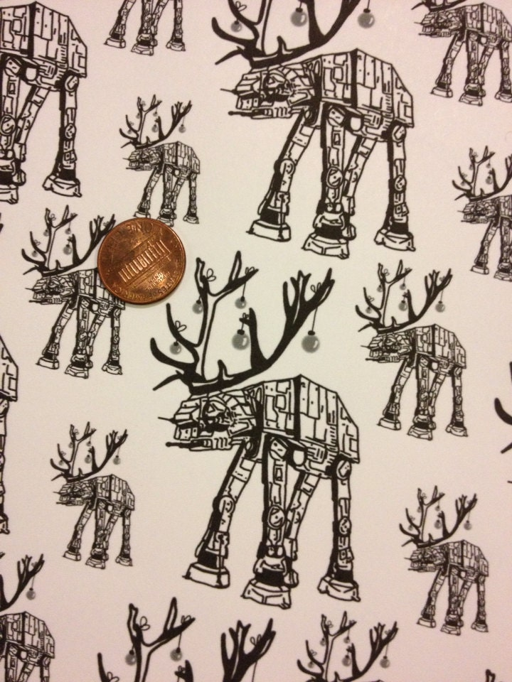 Star Wars ATAT Reindeer Wrapping Paper from DoodleButton on Etsy ...