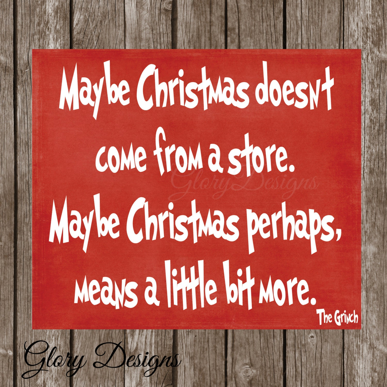 Christmas quote christmas decor grinch quote how by for Christmas decoration quotes