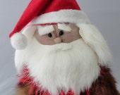 Woodsy Santa Claus Tree Topper in Fur Coat