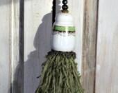 Decorative Handmade Tassel With Upcycled Vintage Porcelain Salt Shaker Top