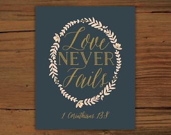 1 Corinthians 13:8 Print