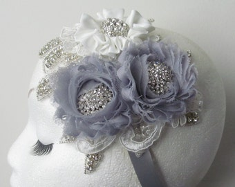 Bridal Hat  / Rhinestone Fascinator / Mini Bridal Hat / The Emily-Grace Bridal Hat