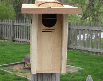 Bluebird nest box, front opening