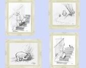 Winnie the Pooh Art | Classic Winnie the Pooh | Download | Winnie the Pooh Nursery | Classic Winnie the Pooh Art