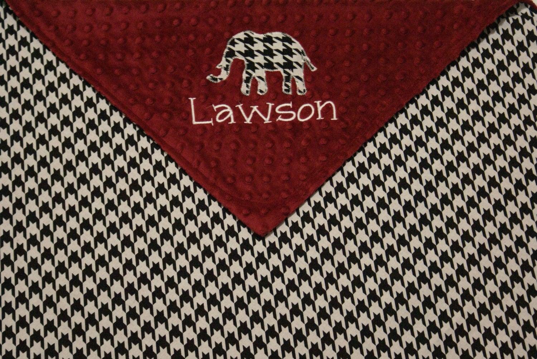 Alabama Crimson Tide Inspired Houndstooth Blanket