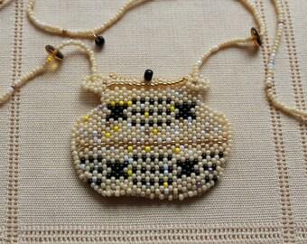 Pueblo Jar Jewelry Pendant Amulet Bag with Movable Lid