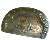 Victorian Antique Shabby Copper Plated Dust Pan, Ash Pan
