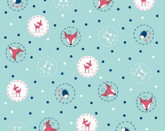 Little Folk Aqua: Natalie Lymer - 1 Yard Cut