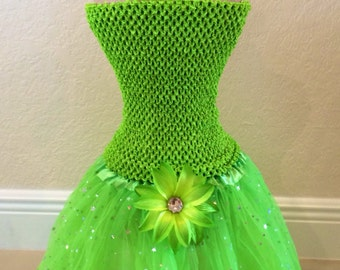 Tinkerbell Costume, Tinkerbell Tutu Dress, Green Fairy Tutu, Fairy Tutu, Tinkerbell Party Favors, Green Tutu, Tinkerbell Party Favors
