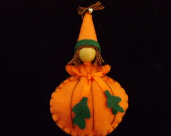Felt Fairy Pumpkin Pin