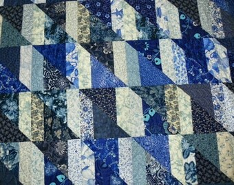 Blue and White II lap quilt