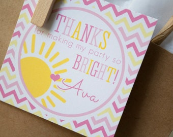 You Are My Sunshine Favor Tags OR Stickers - Set of 12