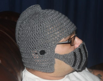 Crochet Knight Hat with removable face mask