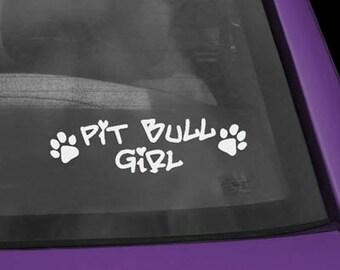 Pit Bull Girl Vinyl Decal